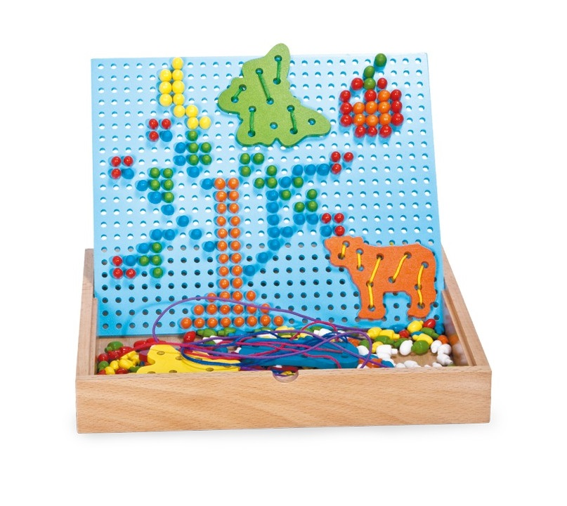 Creative Pin and Thread Puzzle sold by Gifts for little hands