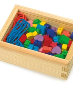 Creative Threading -Wooden Toy Box of Beads - 2