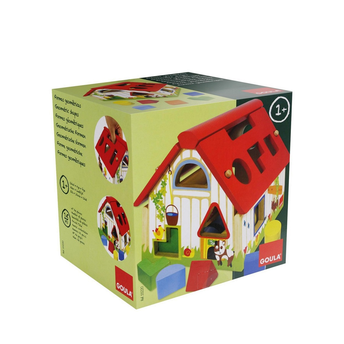 Goula Wooden Farmhouse Shape Sorter