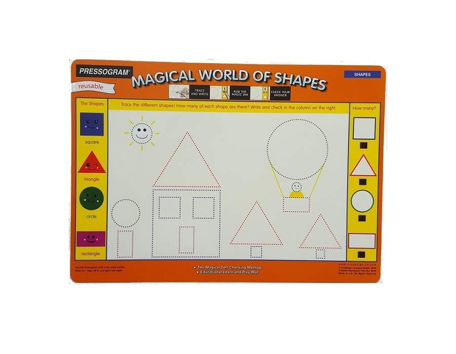 Double sided self-check reusable Mats - Shapes