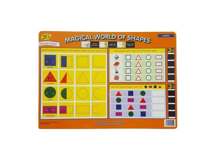Double sided self-check reusable Mats - Shapes - 1