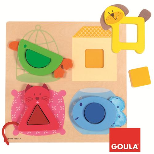 Goula Domestic Animals Shaped Puzzle sold by Gifts for Little Hands