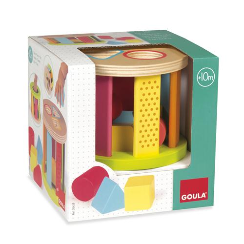 Goula Geometric Shapes Drum Sorter sold by Gifts for Little Hands