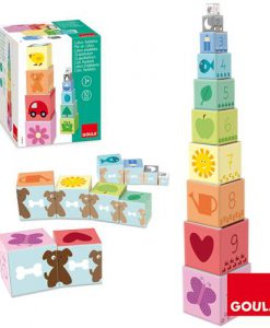 Goula Pile-up Cubes 1-10 sold by Gifts for Little Hands