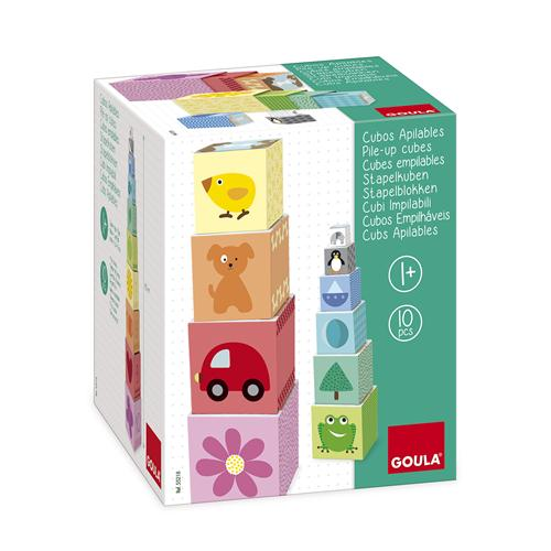 Goula Pile-up Cubes Car Puzzle