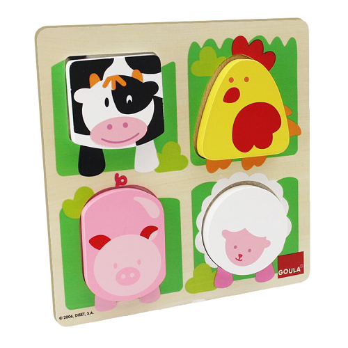 Goula Farm Animal Fabric Puzzle -1