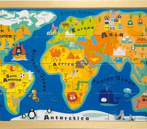 World Map Framed Puzzle sold by Gifts for Little Hands