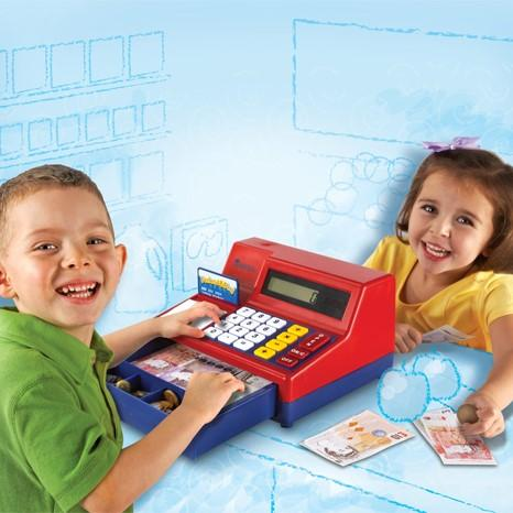 Pretend and Play Calculator Cash Register blog from gifts for little hands an educational toys website