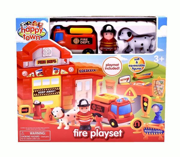 Happy Town Fire Playset sold by Gifts for Little Hands