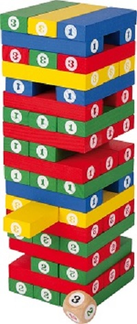 Tumbling Figure Tower Game sold by Gifts for Little Hands