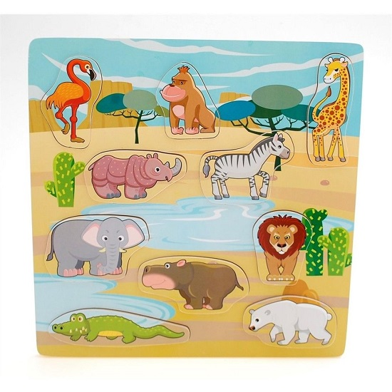 Large Wooden Jungle Animals Puzzle sold by Gifts for Little Hands