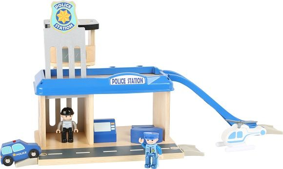 Wooden Police Station with Accessories sold by Gifts for Little Hands
