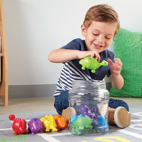 Snap-n-Learn Matching Dinos sold by Gifts for Little Hands